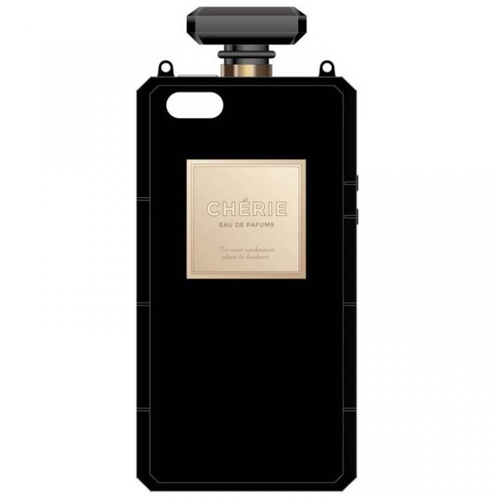 iPhone SE/5s/5 ケース 肩掛けできるチェーン付き 香水瓶風ケース ブラック iPhone SE/5s/5ケース_0