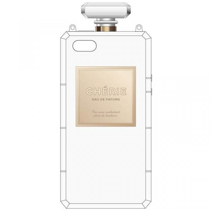 肩掛けできるチェーン付き 香水瓶風ケース クリア iPhone SE/5s/5ケース