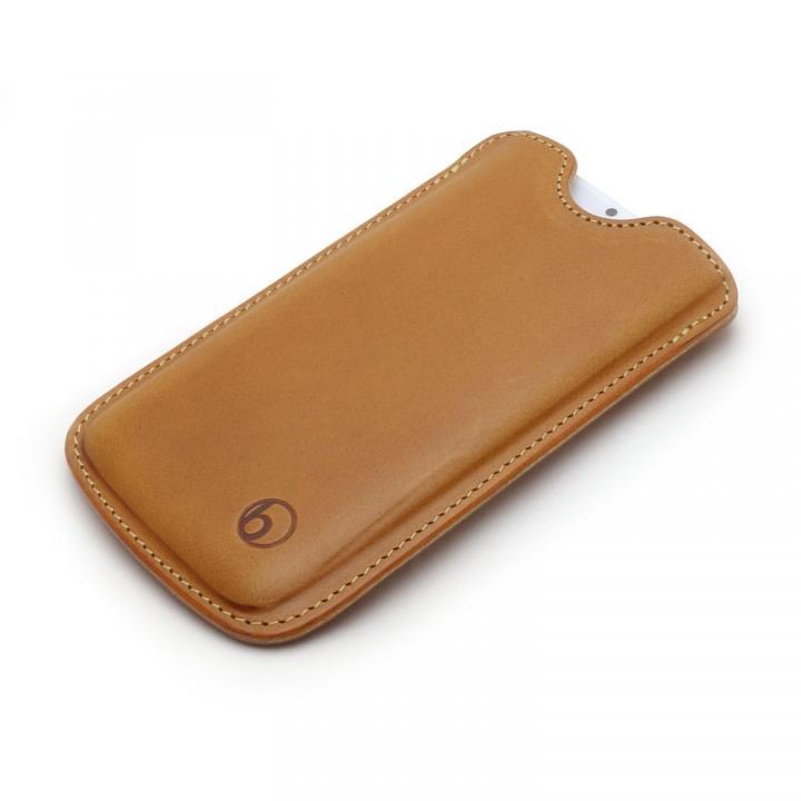 【iPhone6/6 Plusケース】ハンドメイド レザースリーブケース ブラウン iPhone 6_0