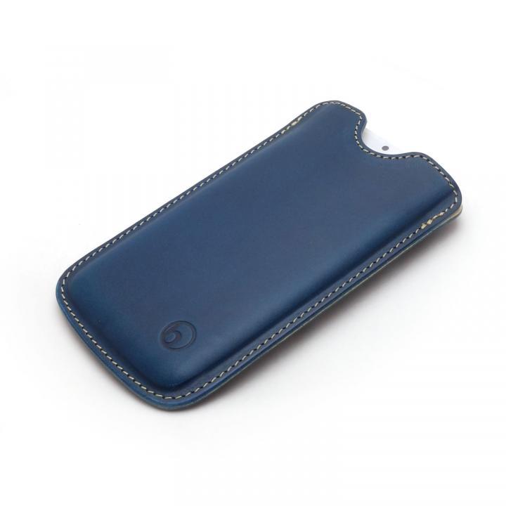 【iPhone6ケース】ハンドメイド レザースリーブケース ブルー iPhone 6_0