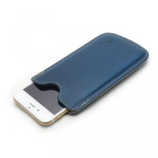 【iPhone6ケース】ハンドメイド レザースリーブケース ブルー iPhone 6_1