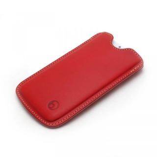 ハンドメイド レザースリーブケース レッド iPhone 6