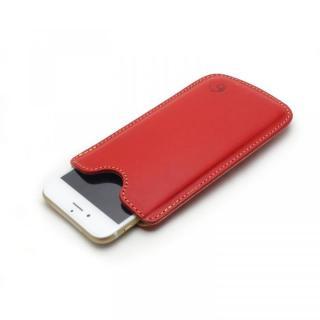【iPhone6ケース】ハンドメイド レザースリーブケース レッド iPhone 6_1