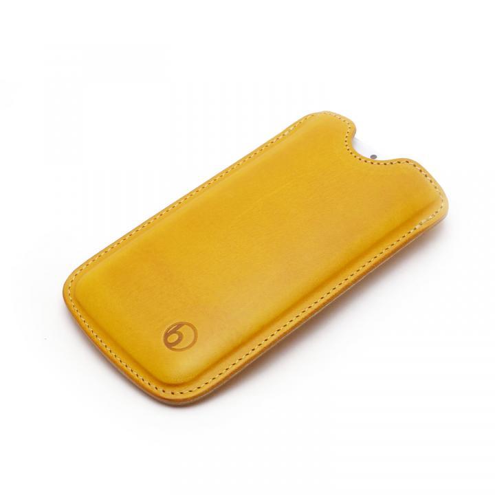 ハンドメイド レザースリーブケース ワイルドイエロー iPhone 6
