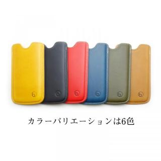 【iPhone6ケース】ハンドメイド レザースリーブケース ブルー iPhone 6_4