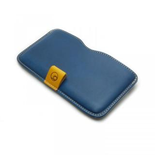 ハンドメイド レザースリーブケース ブルー iPhone 6 Plus