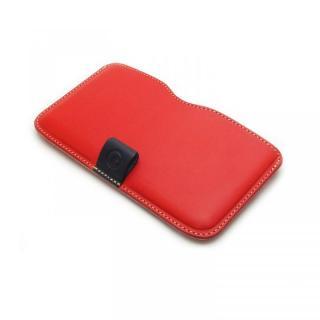 ハンドメイド レザースリーブケース レッド iPhone 6 Plus
