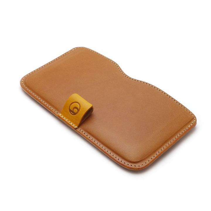 ハンドメイド レザースリーブケース ブラウン iPhone 6 Plus