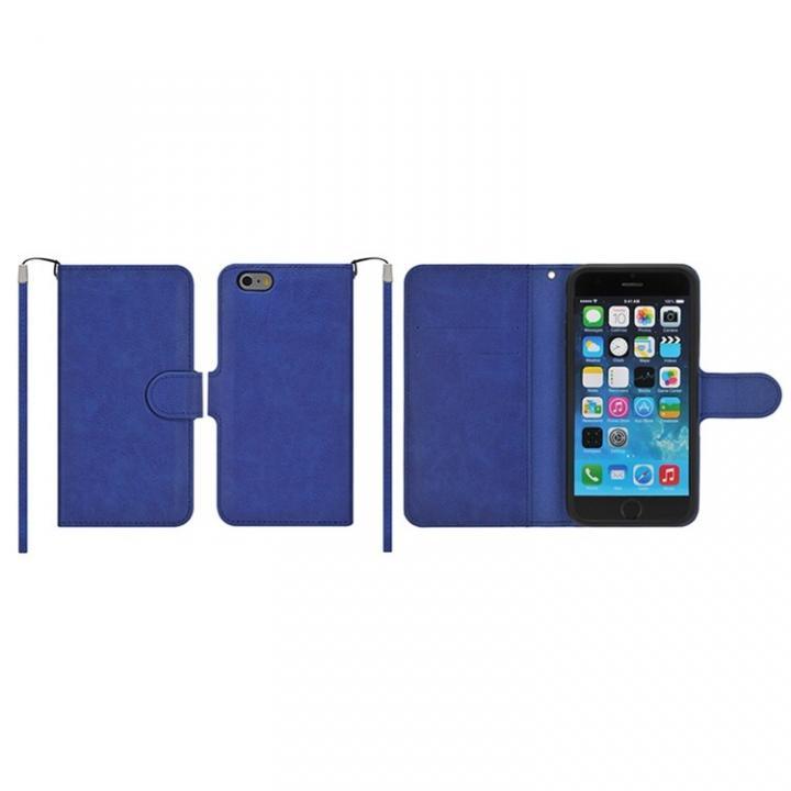 【iPhone6ケース】マグネットレザー手帳型ケース iPhone 6s/6 ダークブルー_0
