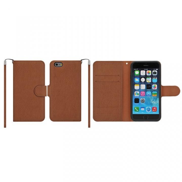 【iPhone6ケース】マグネットレザー手帳型ケース iPhone 6s/6 ブラウン_0
