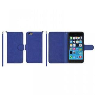 マグネットレザー手帳型ケース iPhone 6s Plus/6 Plus ダークブルー