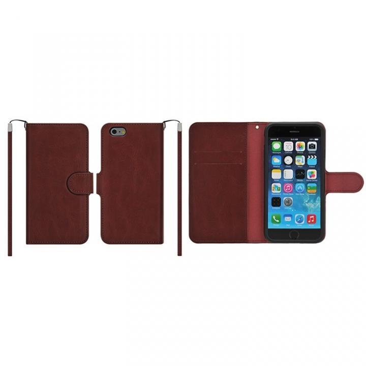 マグネットレザー手帳型ケース iPhone 6s Plus/6 Plus マルーン