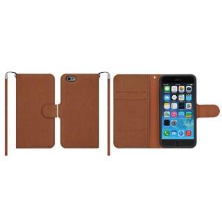 マグネットレザー手帳型ケース iPhone 6 Plus ブラウン