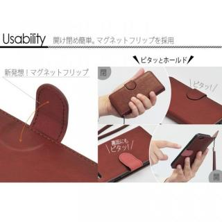 【iPhone6ケース】マグネットレザー手帳型ケース iPhone 6s/6 ブラウン_3