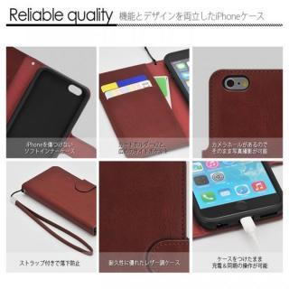 【iPhone6ケース】マグネットレザー手帳型ケース iPhone 6s/6 ブラウン_5
