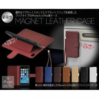 【iPhone6ケース】マグネットレザー手帳型ケース iPhone 6s/6 ブラック_1