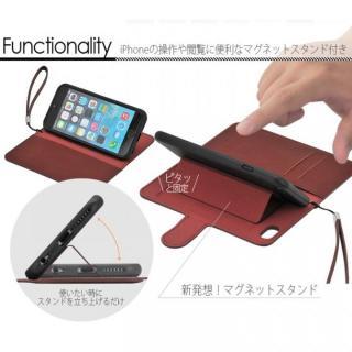【iPhone6ケース】マグネットレザー手帳型ケース iPhone 6s/6 ブラック_2