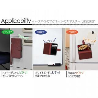 【iPhone6ケース】マグネットレザー手帳型ケース iPhone 6s/6 ホワイト_4
