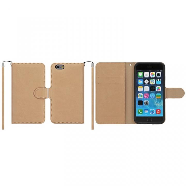 iPhone6 ケース マグネットレザー手帳型ケース iPhone 6 ライトブラウン_0