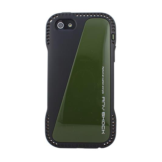 角からの衝撃を守るハイブリッドケース AnyShock ミリタリー iPhone SE/5s/5ケース