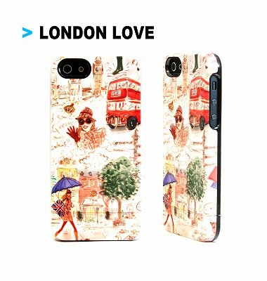 iPhone SE/5s/5 ケース Uncommon iPhone SE/5s/5用カプセルケース London Love_0