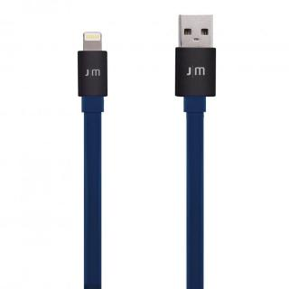 [1.2m]アルミコネクタがカッコイイ Just Mobile Lightningフラットケーブル ブラック/ブルー