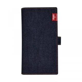 iPhone XS/X/8 Plus ケース EDWIN マルチ対応手帳型ケース タグデニム インディゴ【3月上旬】