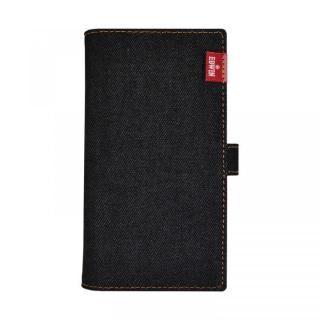 iPhone XS/X/8 Plus ケース EDWIN マルチ対応手帳型ケース タグデニム ブラック【7月下旬】