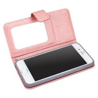 シャイニー 手帳型ミラー付ケース ピンク iPhone 6s/6