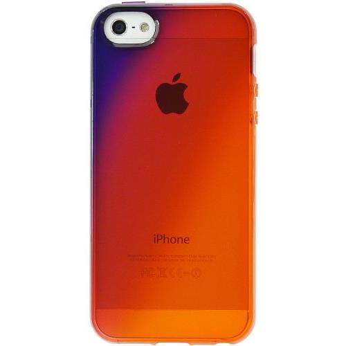 TPUソフトケース 染clear (夕) iPhone SE/5s/5ケース