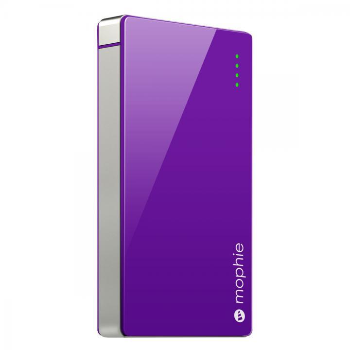 [4000mAh]艶のある鮮やかなカラー モバイルバッテリー PowerStation 4000 パープル_0