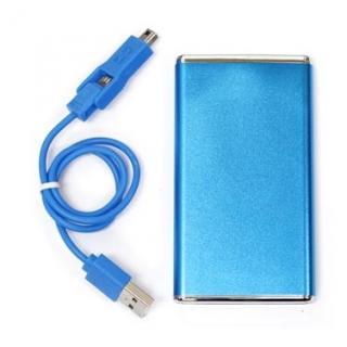 [3000mAh]スマホと3DSLL両方使える薄型リチウムポリマー3000 青