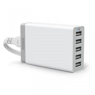 【11月1日までの限定特価】Anker 40W 5ポート急速USB充電アダプタ PowerIQ搭載 ホワイト