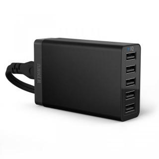 Anker 40W 5ポート急速USB充電アダプタ PowerIQ搭載 ブラック