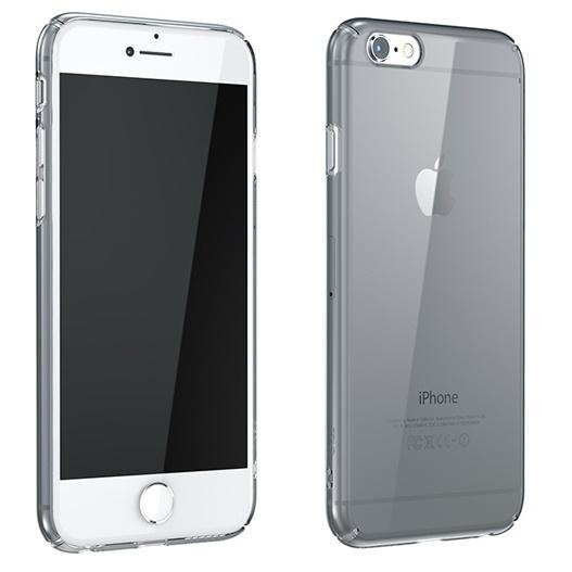iPhone6 Plus ケース ウルトラスリムタフ 0.5mm クリアハードケース グレー iPhone 6 Plus_0