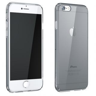 ウルトラスリムタフ 0.5mm クリアハードケース グレー iPhone 6 Plus