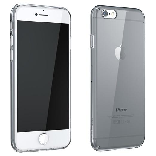 iPhone6 ケース ウルトラスリムタフ 0.5mm クリアハードケース グレー iPhone 6_0