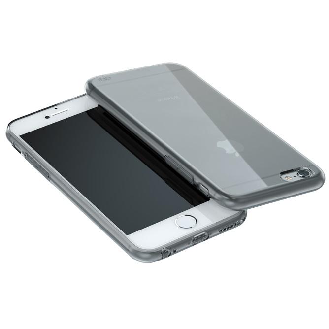 【iPhone6ケース】ウルトラスリム TPUクリアケース グレー iPhone 6_0