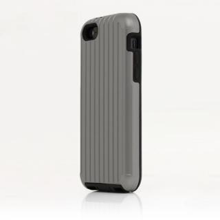 TRAVEL ハイブリッドケース シルバー iPhone SE/5s/5/5cケース