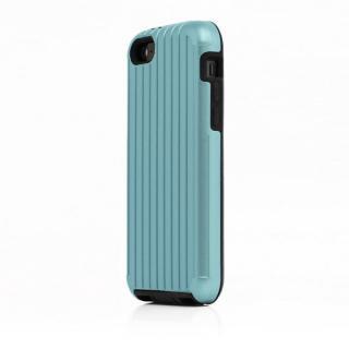 TRAVEL ハイブリッドケース ブルー iPhone SE/5s/5/5cケース