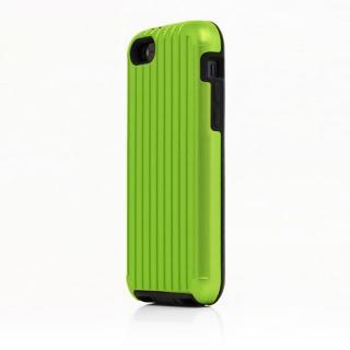 TRAVEL ハイブリッドケース グリーン iPhone SE/5s/5/5cケース