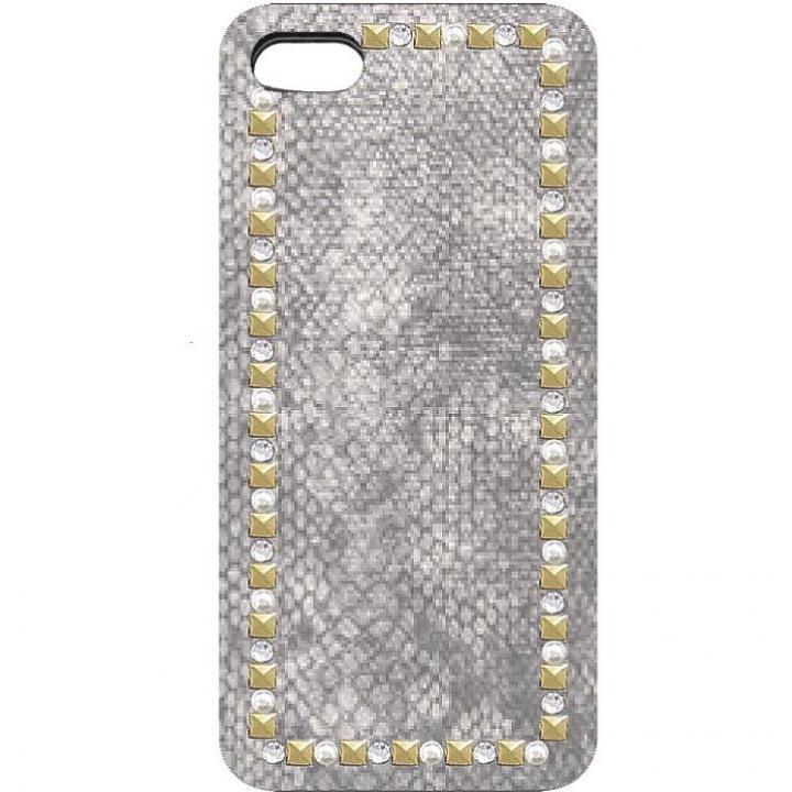 iPhone SE/5s/5 ケース 蛇柄のデザイン ラインストーンケース 蛇 iPhone 5ケース_0
