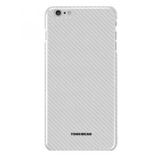 カーボン調プラスチックケース CarbonLook シルバー iPhone 6 Plus