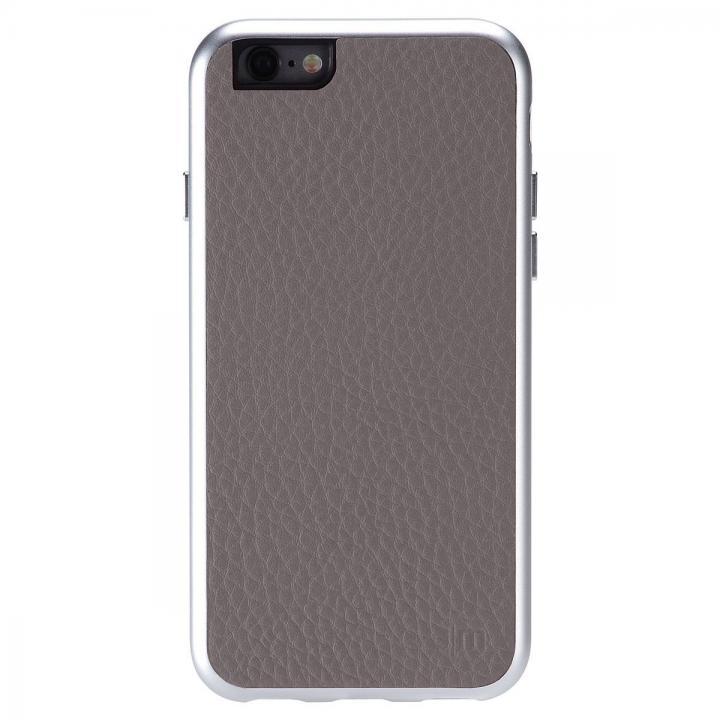 iPhone6 ケース Just Mobile AluFrame Leather ハイブリッド保護ケース グレイ iPhone 6_0