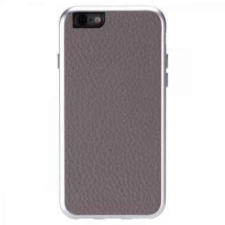 【iPhone6ケース】Just Mobile AluFrame Leather ハイブリッド保護ケース グレイ iPhone 6