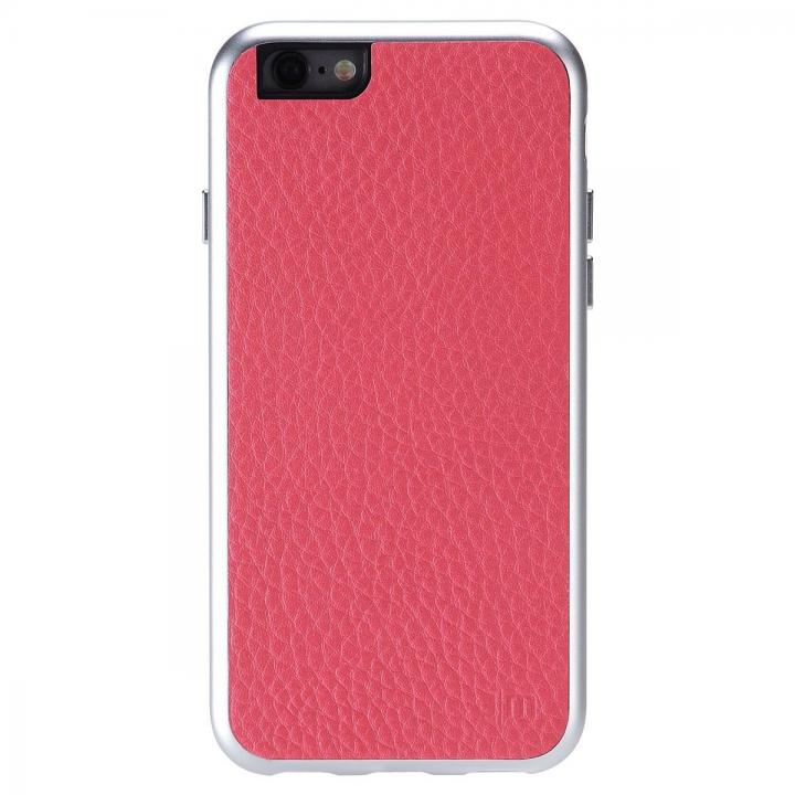 【iPhone6ケース】Just Mobile AluFrame Leather ハイブリッド保護ケース ピンク iPhone 6_0