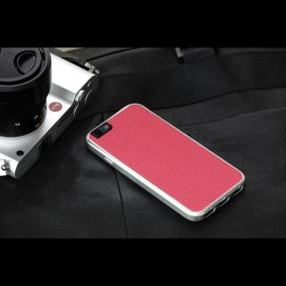 【iPhone6ケース】Just Mobile AluFrame Leather ハイブリッド保護ケース ピンク iPhone 6_4