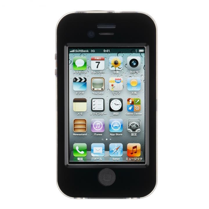 防水ケース  iPhone 4s/4 ブラック_0