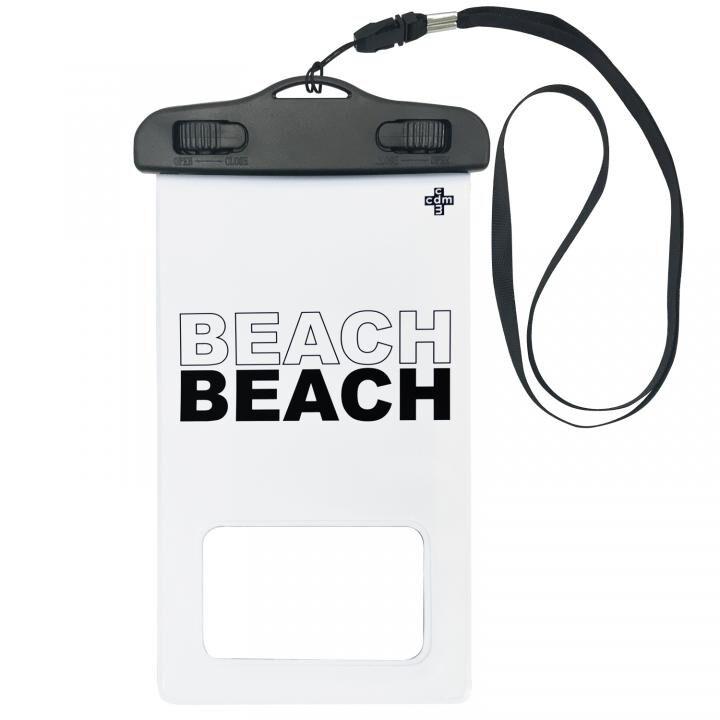 iPhone 11/11 Pro ケース cdm 防水ポーチ BEACH ホワイト_0