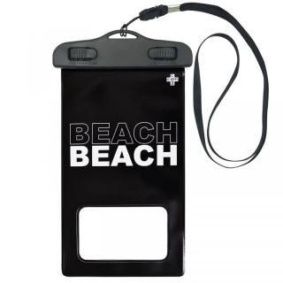 iPhone SE 第2世代 ケース cdm 防水ポーチ BEACH ブラック